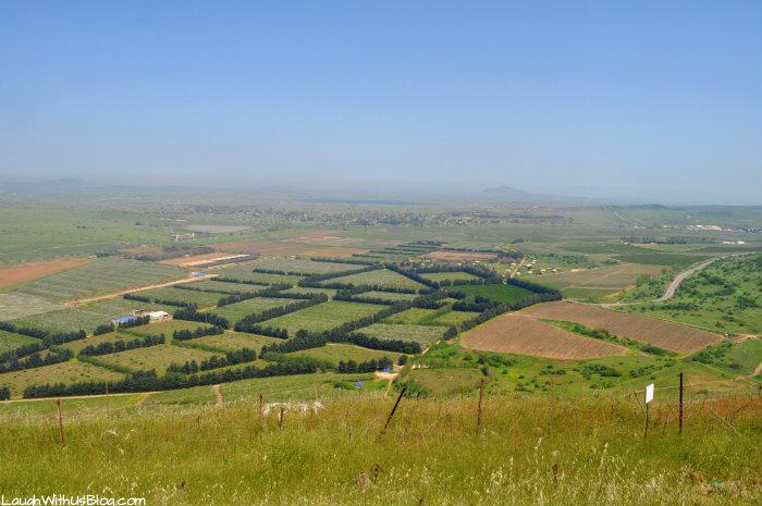 Mt Bental the Syrian city of Kuneitra