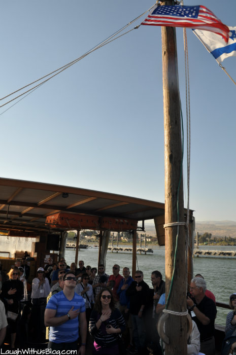 Our National Anthem on the Sea of Galilee