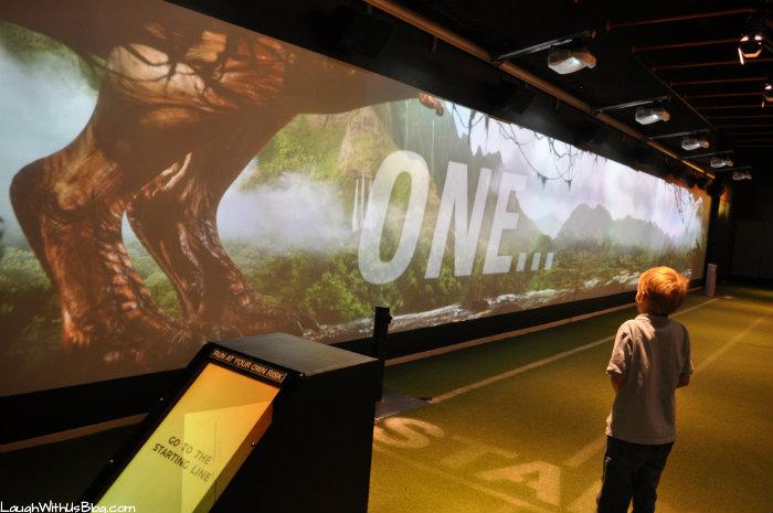 Perot Museum Racing a Dinosaur