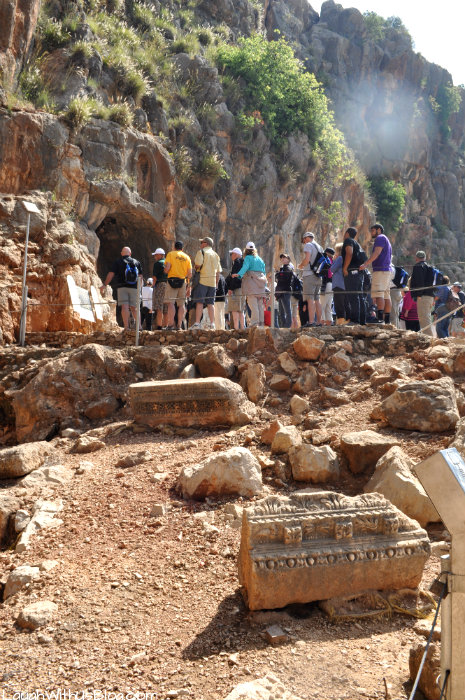 Ruins of the Temple of Pan in Banias Nature Preserve Israel