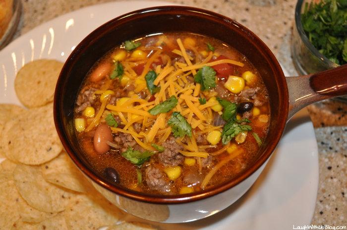 Taco Soup, a family favorite