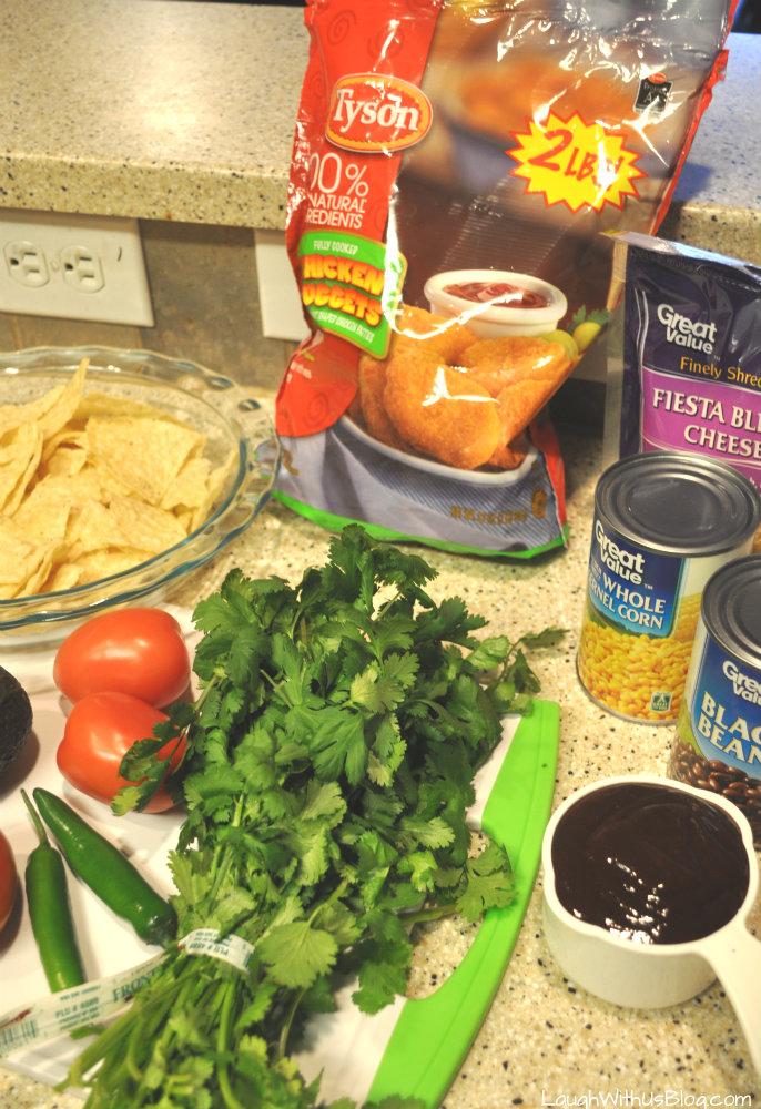 BBQ Chicken Nugget Nachos Ingredients