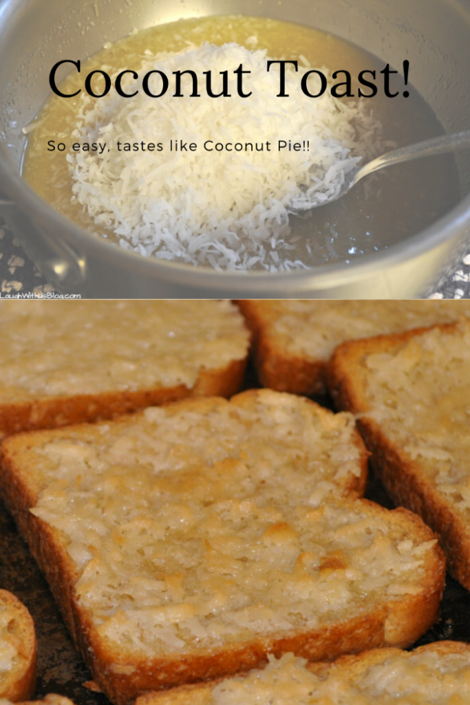 Coconut Toast! so easy tastes like coconut pie