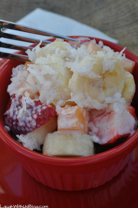 Mexcian Fruit Salad with La Lechera Cream Sauce