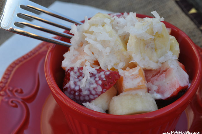 Creamy Mexican Fruit Salad Laugh With Us Blog