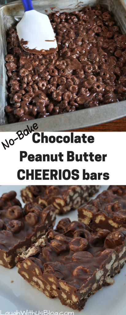 NO Bake Cheerios Bars #ad