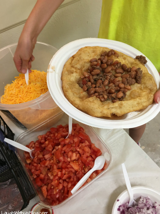 Navajo Reservation VBS Fried Bread Tacos