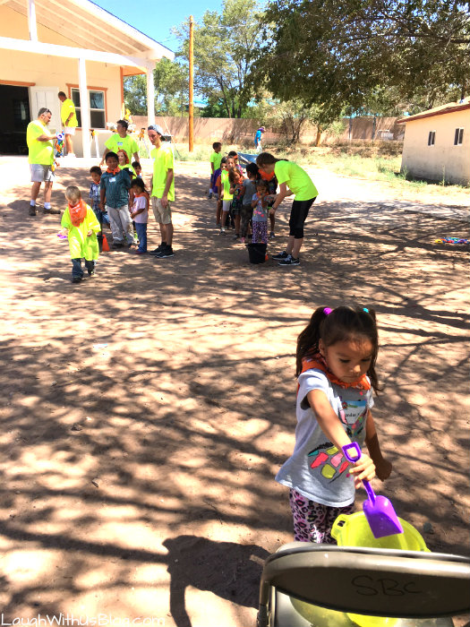 Navajo Reservation VBS Relay Games