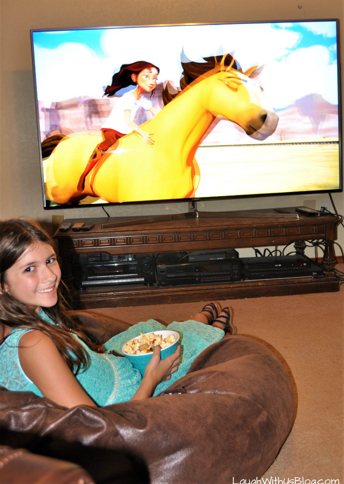 Back to School popcorn party Spirit Riding Free Netflix
