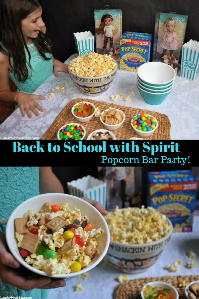 Back to School with Spirit popcorn bar party pop secret