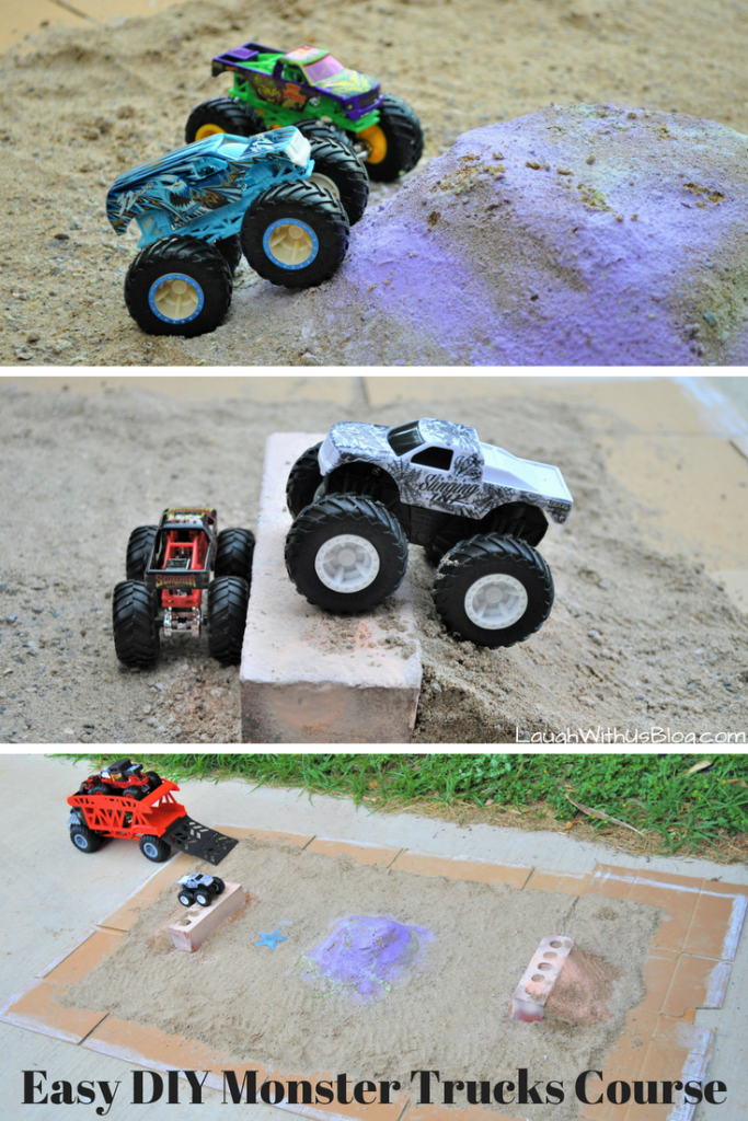 Easy DIY Monster Trucks Course