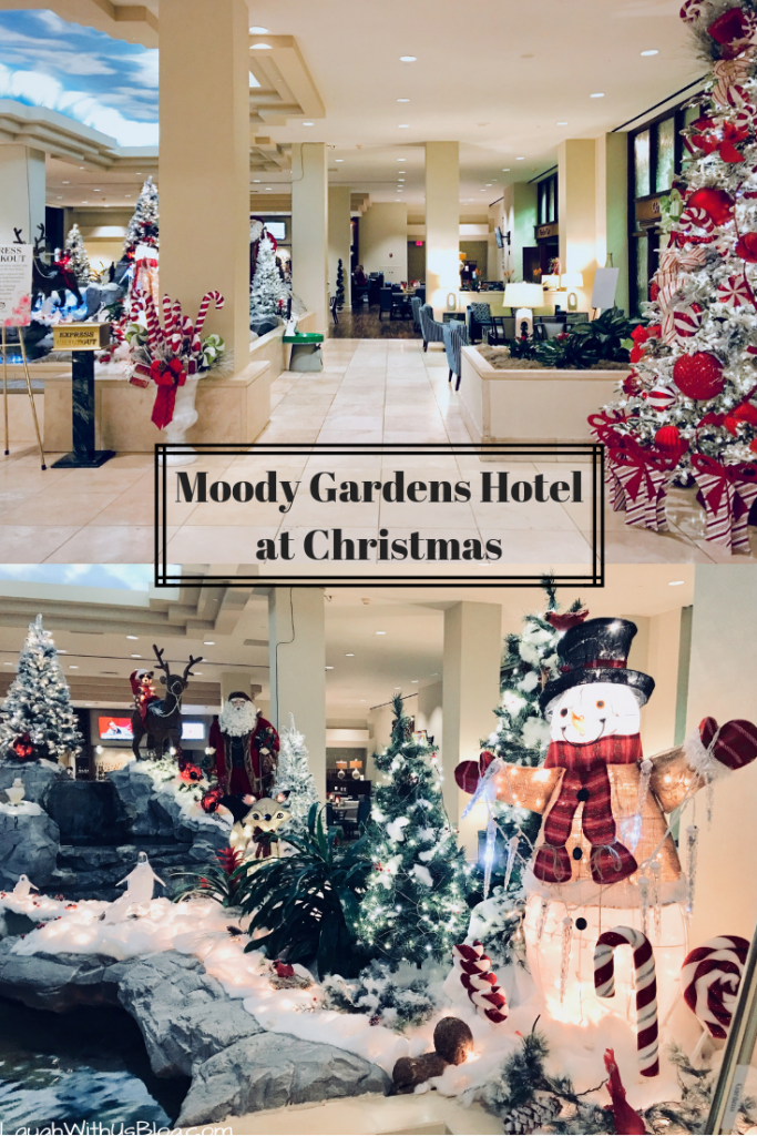 Moody Gardens Hotel at Christmastime