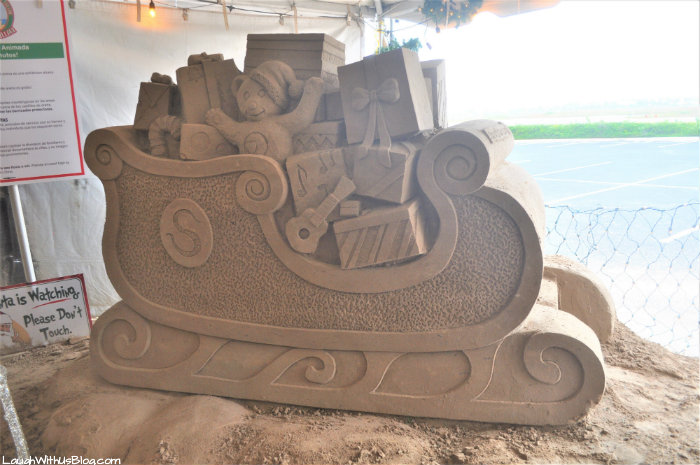 South Padre Holiday Sand Castle Village Santa Sleigh