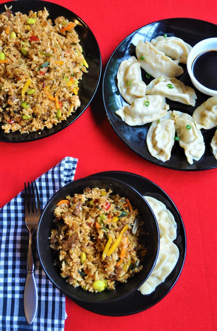 Ling Ling Potstickers Bibimbap Beef Chinese New Year