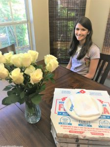 Grace 13 Birthday Pizza