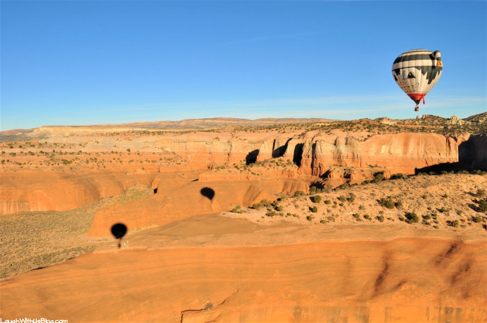 Gallup Hot Air Balloon Ride Scenery