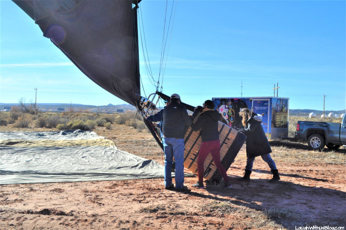Gallup Hot Air Balloon Take Down