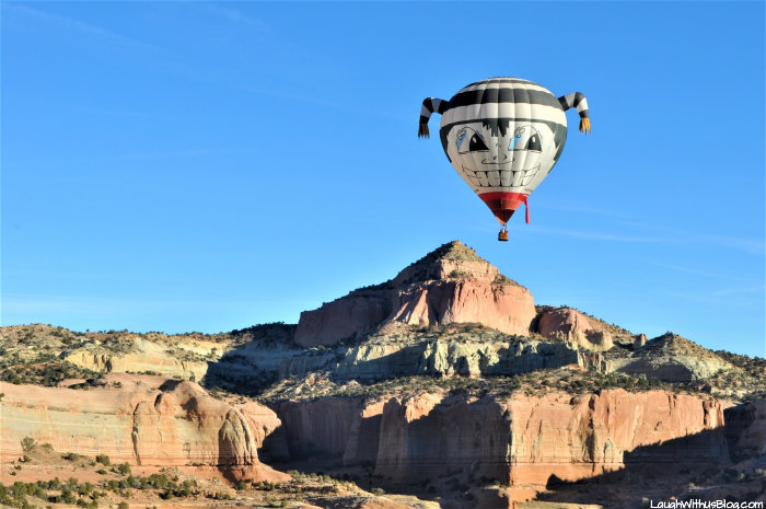 Gallup Hot air Balloon from the air
