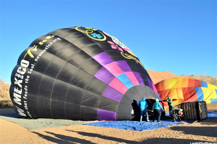 Gallup New Mexico Hot Air Balloon Set up