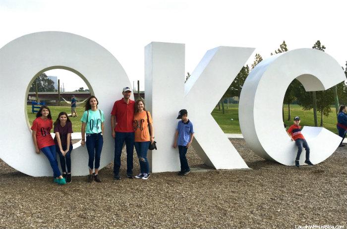 Oklahoma City OKC sign