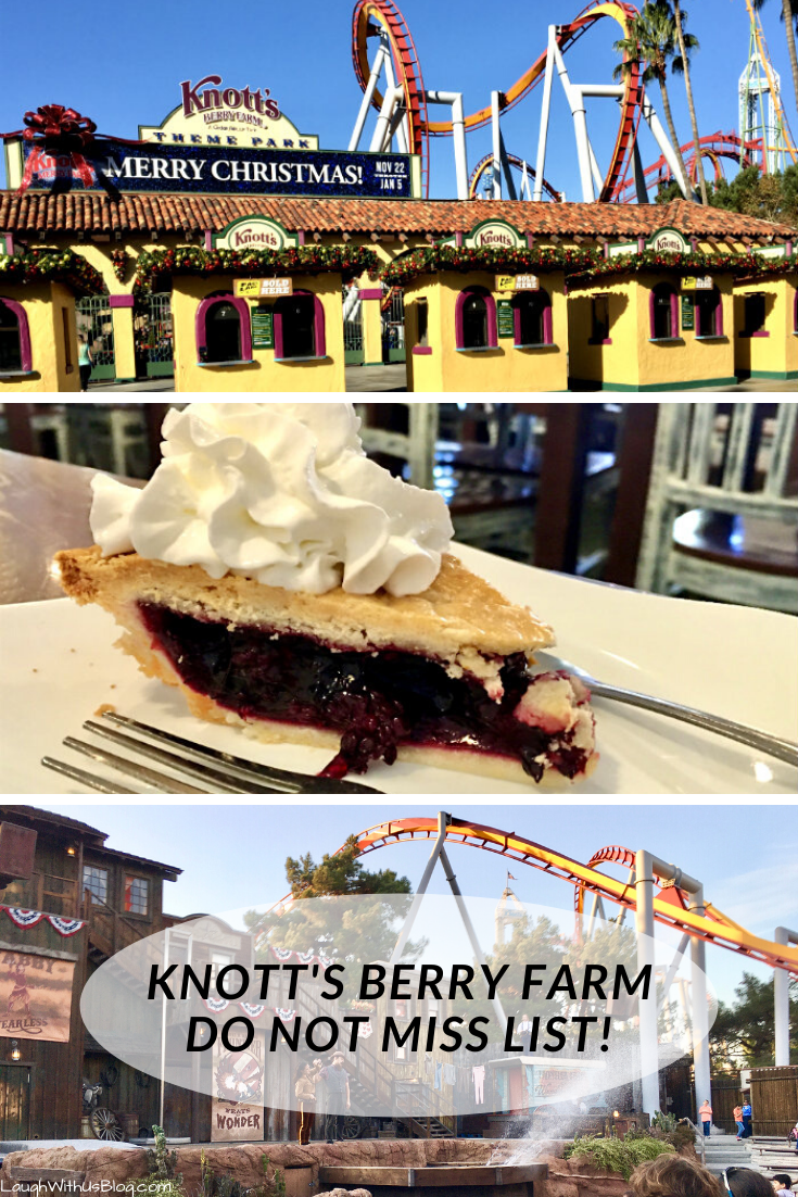 knott's Berry Farm Theme Park Do Not Miss List