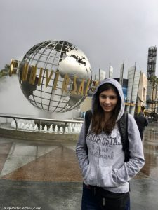 Universal Studios Hollywood in the rain