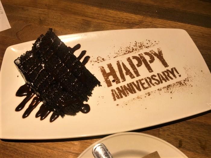 Yard House Anniversary Dessert